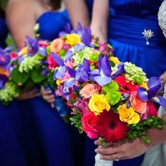This wedding shines of royal blues, cowboy boots and inspiring florals ... a must see!