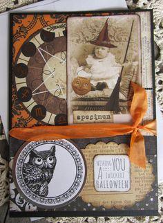 Halloween Card Primitive Halloween Handmade by SweetLibertyBarn