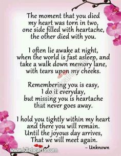 I miss you mom. How am I supposed to go on without you? I think about you every minute and I can't stand not seeing you. Now Quotes, Life Quotes Love, Hurt Quotes, Year Quotes, Miss You Dad, Mom And Dad, Rip Daddy, Rip Mom, Missing Daddy