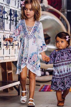Gypsy Sparkle Kaftan Wild Lily Blue - Arnhem Clothing