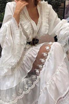 Long Sleeve Dress Womens High Waist Stretchy Solid Elegant Ruffles V-Neck Loose Leisure Sweet Girls Design Ladies Fresh Femme Long Sleeve Maxi, Maxi Dress With Sleeves, Tie Dress, White Maxi Dresses, Floral Maxi Dress, Casual Dresses, Beautiful Summer Dresses, Dress Brands, Dresses For Sale