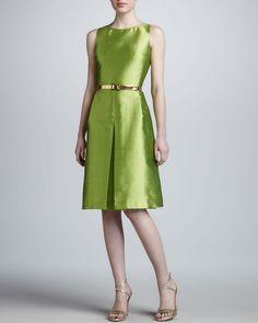 Bateauneck Pleated Dress - Lyst