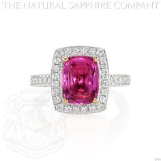 Natural Pink Sapphire Rings .