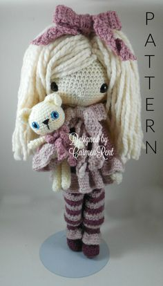 February  Amigurumi Doll Crochet Pattern