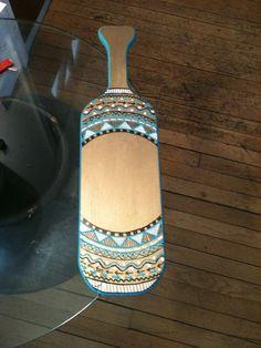 Aztec Sorority Paddle by SassyAndSratty on Etsy, $40.00