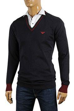 EMPORIO ARMANI Mens V-Neck Sweater #157; $149.99    http://www.primerunway.com/EMPORIO-ARMANI-Mens-V-Neck-Sweater-157?cPath