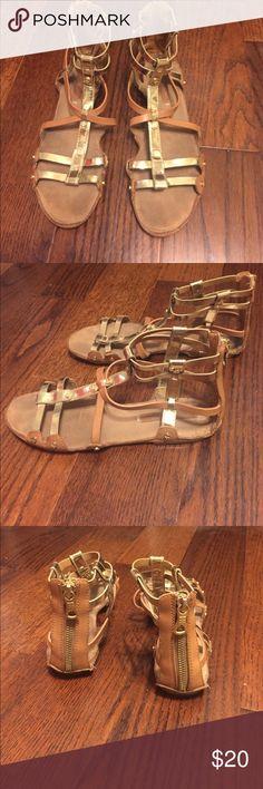 BCBG brand gladiator sandals. Genuine leather! Size 8 BCBG sandals gladiator style really cute!! BCBG Shoes Sandals