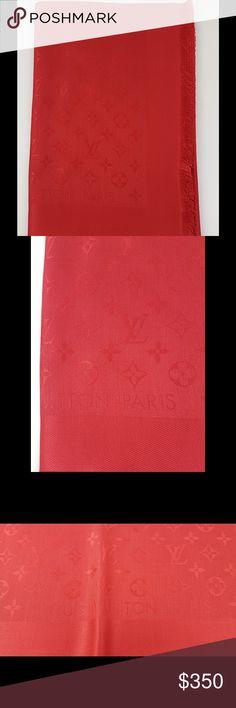Louis Vuitton Shawl Monogram Louis Vuitton Shawl Monogram, Pomme d'Amour color. Model M72237. Louis Vuitton Accessories Scarves & Wraps