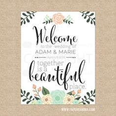 Welcome to Our Wedding Sign, Wedding Entrance Sign.