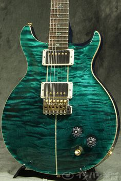 Paul Reed Smith (PRS) / Wood Library Santana 10Top Quilt Turquoise/Brazilian…