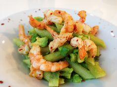 Avocado-Penne mit Chili-Garnelen von cookingsociety.at Penne, Pasta, Chili, Avocado, Shrimp, Meat, Food, New Recipes, Fresh