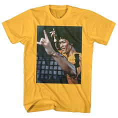 ba871a532 Details about Bruce Lee Yellow Jumpsuit Men's T Shirt Iconic Kung Fu Legend  Ninja Fighter Top
