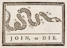 "The editorial Franklin wrote next to this cartoon about the ""disunited state"" and the importance of unity seems all too familiar today."