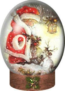 animatede gif christmas scenes | Xmas Snow Globes Animated Gifs