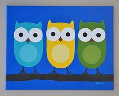 Owl painting for Baby Hoot's room