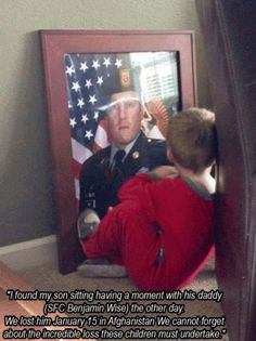 so sweet and sad it brought me to tears ... #GodBless Comfort & Keep ALL our #Heroes that gave their all left behind.