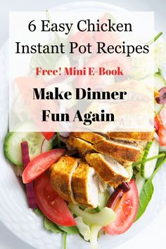 Families love chicken for dinner. One of the best ways to save time after a long day at work or a long day with the kids is to toss healthy ingredients in your Instant Pot for your family dinner. Add a bagof salad and you are free to spend time with thekids not standing over the stove. Quick Family Dinners, Easy Chicken Recipes, Pressure Cooking, Free Food, Instant Pot, Dinner Recipes, Healthy, Supper Recipes