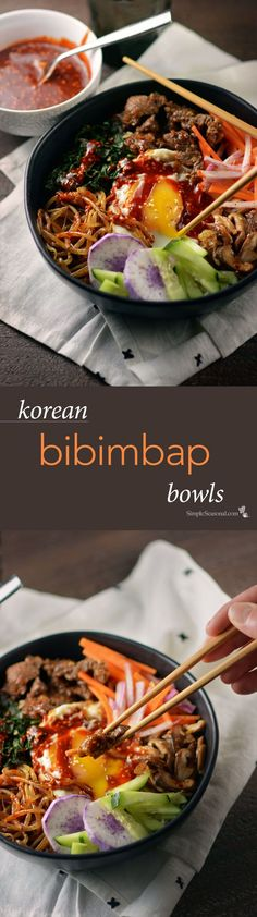 Korean Bibimbap Bowls – Enjoy a bowl full of traditional Korean flavor with this tasty, satisfying, all-in-one entree that's chock full of seasonal goodness!
