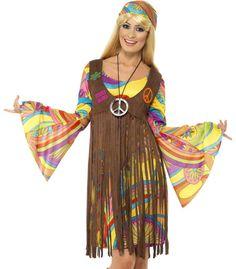 Sexy Retro 60s 70s Hippie Womens Halloween Costume #Smiffys