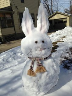 Easter snowmen - Hey, let's hope the snow is GONE before Easter!!