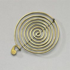 Brooch | Alexander Calder, circa 1966. One of the things I love best about Calder - he made jewelry for his wife!