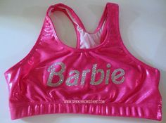 So cute! Barbie crop top for training.