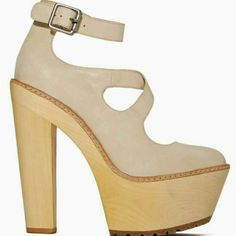 Shoe Cult By Nasty Gal Wooden Platforms Sz 6