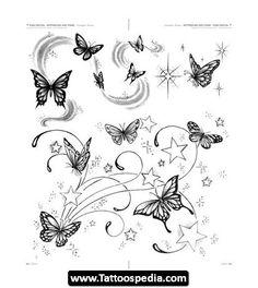 Dope Tattoos, Unendlichkeitssymbol Tattoos, Star Tattoos, Flower Tattoos, Body Art Tattoos, Sleeve Tattoos, Henna Tattoo Hand, Star Tattoo Designs, Butterfly Tattoo Designs