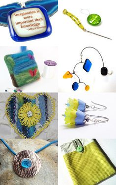 Sunshine And Blue Skies by Katie Rawson on Etsy--Pinned with TreasuryPin.com