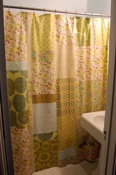 Patchwork Shower Curtain by Mrs. Jenny Ryan, via Flickr