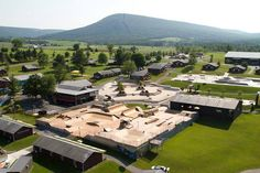 Another great aerial view of Woodward Camp's immense and great facilities.