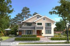 Exclusive 5 Bedroom House Plan with a tasteful facade and has an incredible master bedroom suite fit for a king. Fully detailed architectural drawings available House Plans Mansion, Tree House Plans, Three Bedroom House Plan, Simple House Plans, Beach House Plans, Duplex House Plans, Family House Plans, Luxury House Plans, Modern House Plans