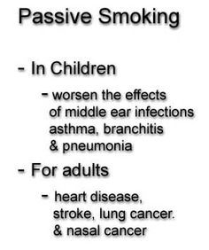 Image result for passive smoking quotes
