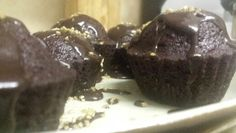 Baking calms me: chocolate cup cakes with chocolate fondant icing.