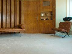 Bruno comtesse Mies van der Rohe Barcelona Chair lounger living room