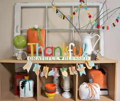Thankful Letter Set with Gratitude Banner - The Wood Connection Blog