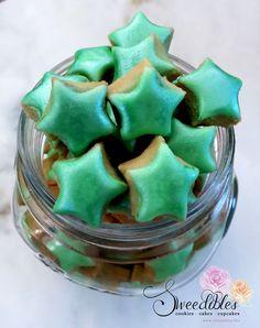 Sweedibles Star Jar - extra mini shimmering green star cookies
