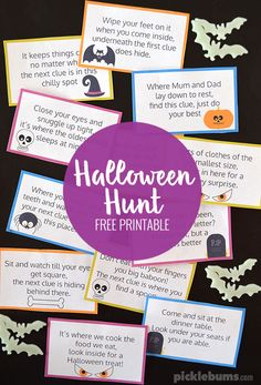 Free Halloween treasure hunt! Fun Halloween idea for kids.
