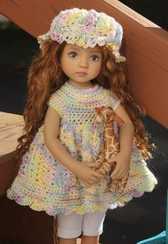 Our Little Darling by Dianna Effner crocheted doll by quadesisters