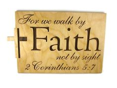 2 Corinthians 5:7 Faith Bible Passage Wall Hanging by KevsKrafts