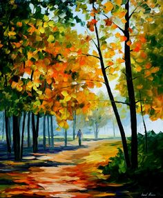 """""""Noon in the Forest"""" by Leonid Afremov ___________________________ Click on the…"""