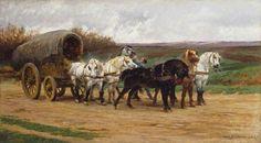 Rosa Bonheur - Wagon et une équipe de chevaux