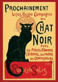 This was done as a wall-size canvas reproduction at my favorite coffee house/creperie in Des Moines (Yes kids, IOWA!) called, go figure, Le Chat Noir.  I would love a large print in my own home.  Memories!