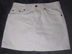 J Crew Denim White Jean Mini Skirt sz. 29-30 EUC
