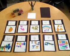 The Simplicity of Learning: Number Cards made by the children ≈≈