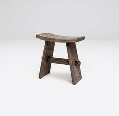 teak stool - Mitchell Hill.  18Lx10Wx19H.  $330 retail