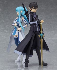 From the anime series 'Sword Art Online II' comes a figma of the main character 'Kirito' in his Spriggan appearance from ALfheim Online! · Using the smooth yet posable joints of figma, you can act out Kirito Sword, Kirito Asuna, Manga Anime, Manga Art, Vocaloid, Sword Art Online Figures, Otaku, Satsuriku No Tenshi, Anime Toys