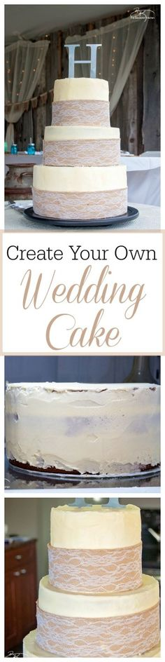 DIY wedding cakes. T