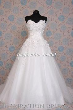1372 princess daisy flowers bridal gown wedding dress sweetheart a line