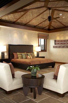 Hawaiian Ethnic Retreat - tropical - bedroom - hawaii - Willman Interiors / Gina Willman, ASID